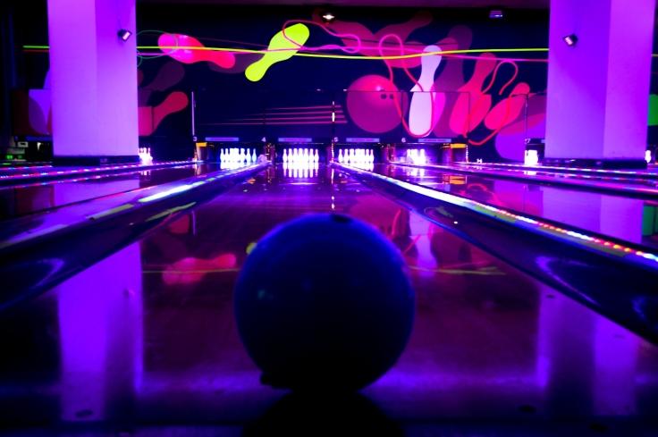 Glow in dark bowling