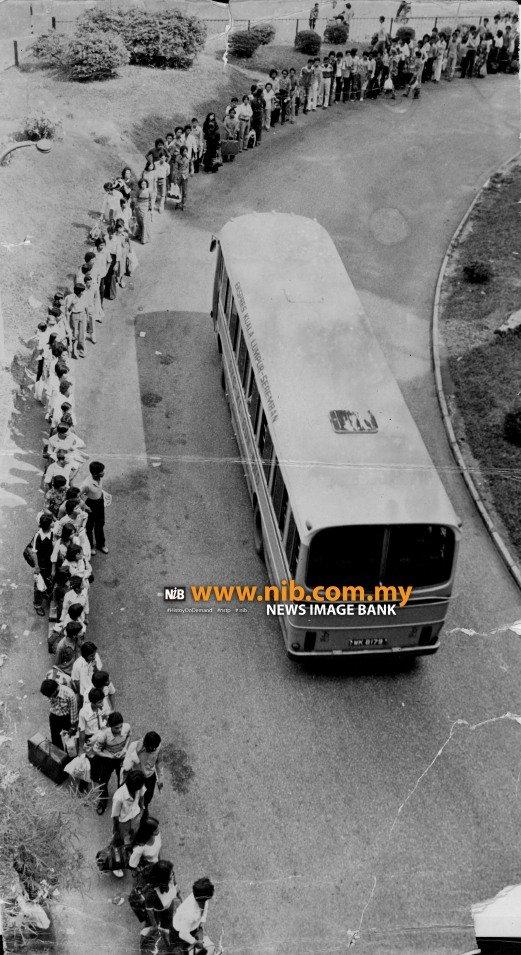 Stesen bas Puduraya pada tahun 1979